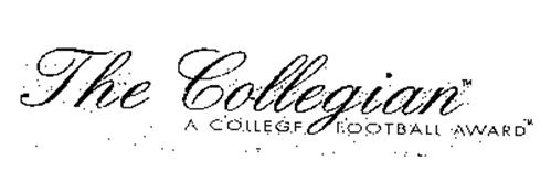 THE COLLEGIAN A COLLEGE FOOTBALL AWARD