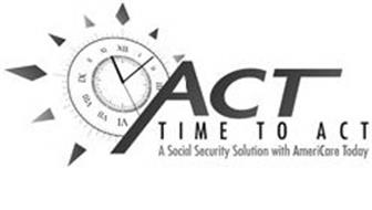 ACT TIME TO ACT A SOCIAL SECURITY SOLUTION WITH AMERICARE TODAY