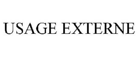 USAGE EXTERNE