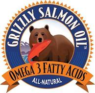 GRIZZLY SALMON OIL OMEGA 3 FATTY ACIDS ALL-NATURAL