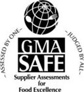 GMA SAFE SUPPLIER ASSESSMENTS FOR FOOD EXCELLENCE ASSESSED BY ONE JUDGED BY ALL