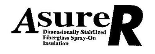 ASURER DIMENSIONALLY STABILIZED FIBERGLASS SPRAY-ON INSULATION