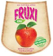 FRUXI RAW ALL NATURAL APPLE JUICE RICH IN VITAMINS 100% NATURAL COLD-PRESSED PRODUCT