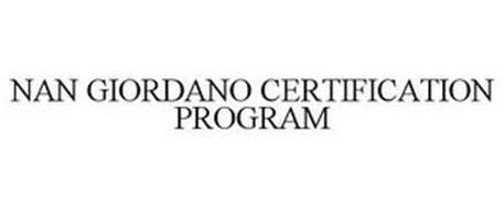 NAN GIORDANO CERTIFICATION PROGRAM