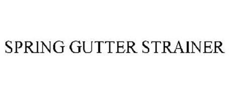 SPRING GUTTER STRAINER
