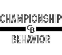 CHAMPIONSHIP  CB BEHAVIOR