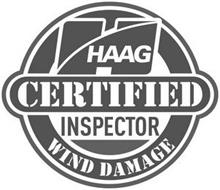 H HAAG CERTIFIED INSPECTOR WIND DAMAGE