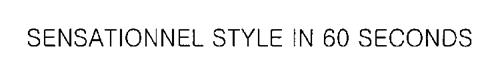 SENSATIONNEL STYLE IN 60 SECONDS