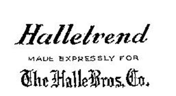HALLETREND THE HALL BROS. CO. MADE EXPRESSLY FOR