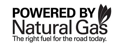 POWERED BY NATURAL GAS THE RIGHT FUEL FOR THE ROAD TODAY.