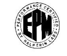EPM PERFORMANCE CERTIFIED BY HALPERIN LABS