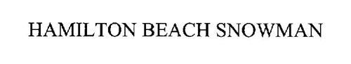 hamilton beach snowman trademark of hamilton beach brands