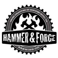 HAMMER & FORGE BREWING CO., HAND CRAFTED IN BOONES MILL, VA