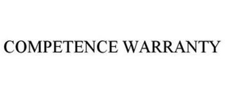 COMPETENCE WARRANTY