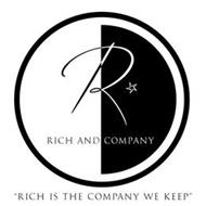 """R RICH AND COMPANY """"RICH IS THE COMPANY WE KEEP"""""""