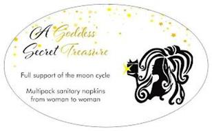 A GODDESS' SECRET TREASURE FULL SUPPORTOF THE MOON CYCLE MULTIPACK SANITARY NAPKINS FROM WOMAN TO WOMAN