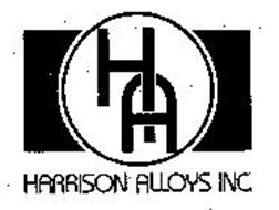 HARRISON ALLOYS INC. HA