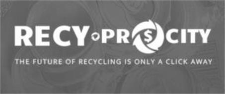 RECY-PROCITY THE FUTURE OF RECYCLING ISONLY A CLICK AWAY