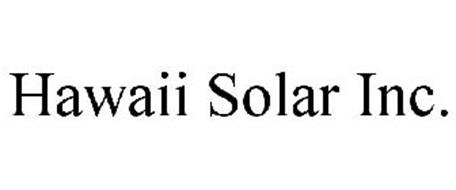 HAWAII SOLAR INC.