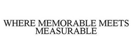 WHERE MEMORABLE MEETS MEASURABLE