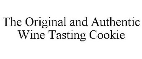 THE ORIGINAL AND AUTHENTIC WINE TASTING COOKIE