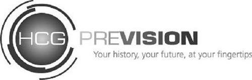 HCG PREVISION YOUR HISTORY, YOUR FUTURE, AT YOUR FINGERTIPS