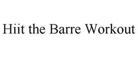 HIIT THE BARRE WORKOUT