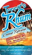 TOPPER'S RHUM GOURMET ISLAND COCONUT RETRIEVER HAND MADE IN ST. MAARTEN RUM WITH NATURAL FLAVORS TIME FLIES WHEN YOU'RE HAVING RHUM 21% ALC./VOL.