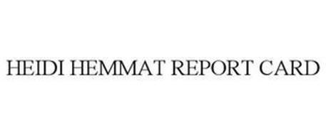 HEIDI HEMMAT REPORT CARD