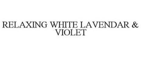 RELAXING WHITE LAVENDAR & VIOLET