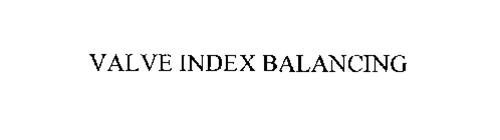VALVE INDEX BALANCING