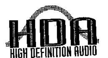 HDA HIGH DEFINITION AUDIO