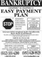 BANKRUPTCY CHAPTER 7 & CHAPTER 13 EASY PAYMENT PLAN
