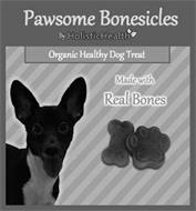 PAWSOME BONESICLES BY HOLISTICHEALTH ORGANIC HEALTHY DOG TREAT MADE WITH REAL BONES