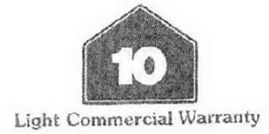 LIGHT COMMERCIAL WARRANTY 10