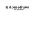HOMEBUYS THE BEST FOR LESS