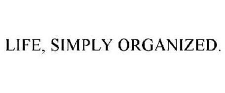 LIFE, SIMPLY ORGANIZED.