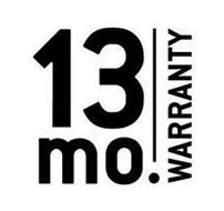 13 MO. WARRANTY
