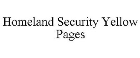 HOMELAND SECURITY YELLOW PAGES