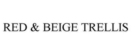 RED & BEIGE TRELLIS