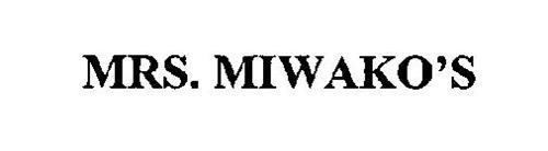 MRS. MIWAKO'S