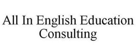 ALL IN ENGLISH EDUCATION CONSULTING