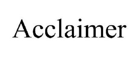 ACCLAIMER