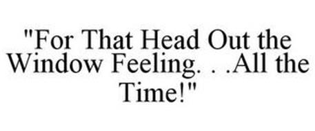"""""""FOR THAT HEAD OUT THE WINDOW FEELING. . .ALL THE TIME!"""""""