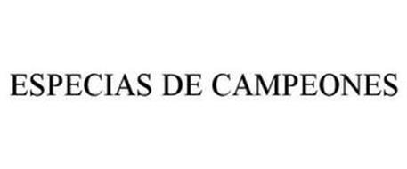 ESPECIAS DE CAMPEONES