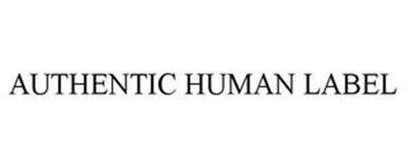 AUTHENTIC HUMAN LABEL