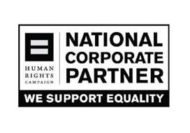 HUMAN RIGHTS CAMPAIGN NATIONAL CORPORATE PARTNER WE SUPPORT EQUALITY