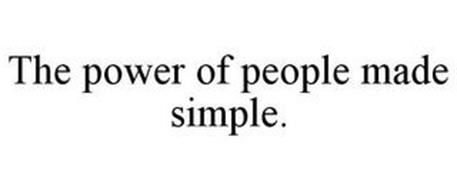 THE POWER OF PEOPLE MADE SIMPLE.