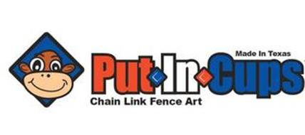 MADE IN TEXAS PUT IN CUPS CHAIN LINK FENCE ART