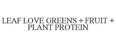 LEAF LOVE GREENS + FRUIT + PLANT PROTEIN